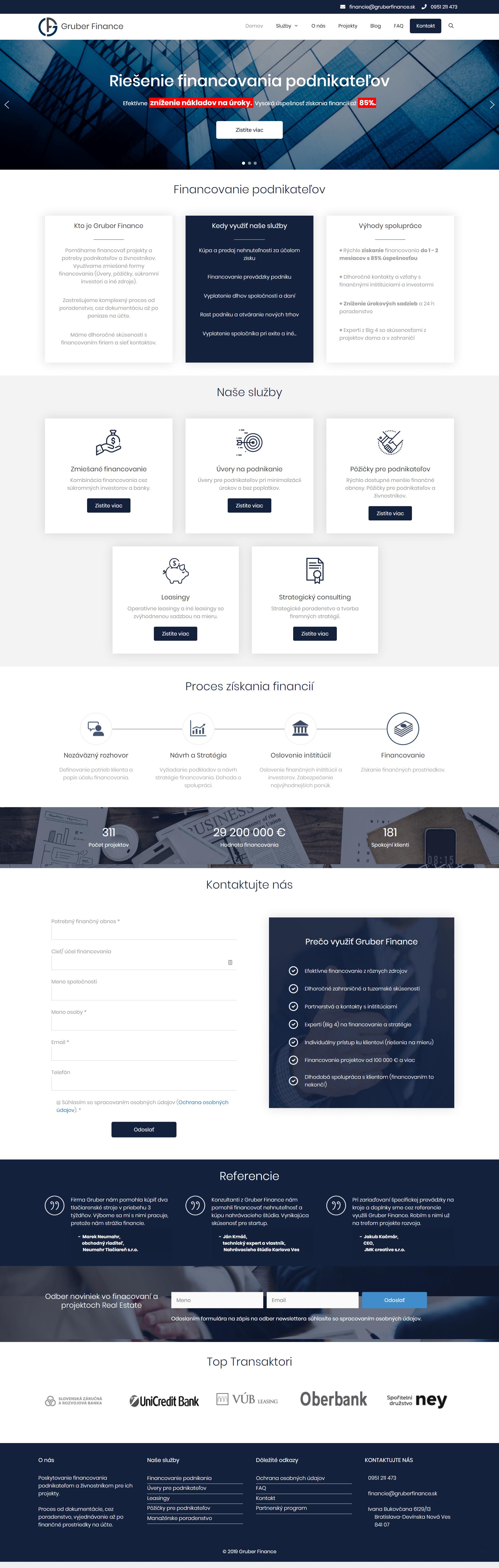 gruberfinance-webdizajn